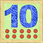 Adding up to 10 in German Icon