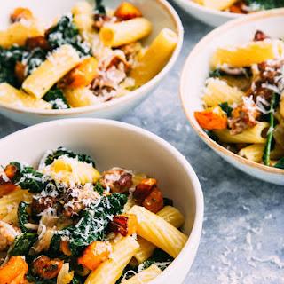 Rigatoni with Winter Squash and Kale (Rigatoni Con Zucca, Salciccia, E Cavolo Nero) Recipe
