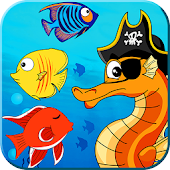 Pirate Seahorse match 3 - find the treasure