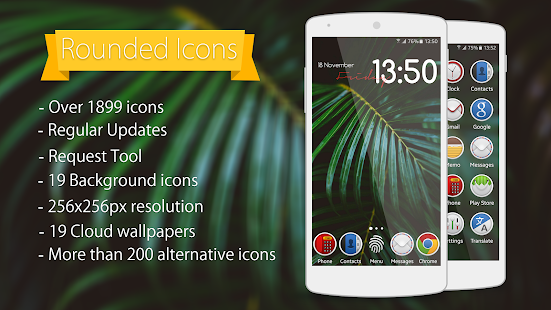 Rounded - Icon Pack Screenshot