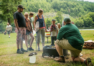 Photo: Learning to grill vegetables at Emerald Lake State Park