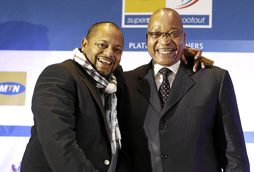 Kuben Moodley and then president Jacob Zuma (file image). The National Prosecuting Authority has filed a contempt of court application against the businessman over safety deposit boxes with contents worth more than R200m.