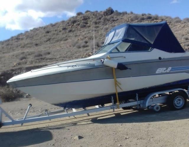 Barco presuntamente utilizado