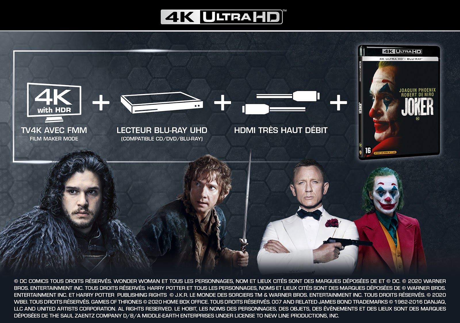4K UHD TV + 4K Ultra HD Blu-ray + very high speed HDMI cable = the winning combination to enjoy 4K image quality in the best conditions!