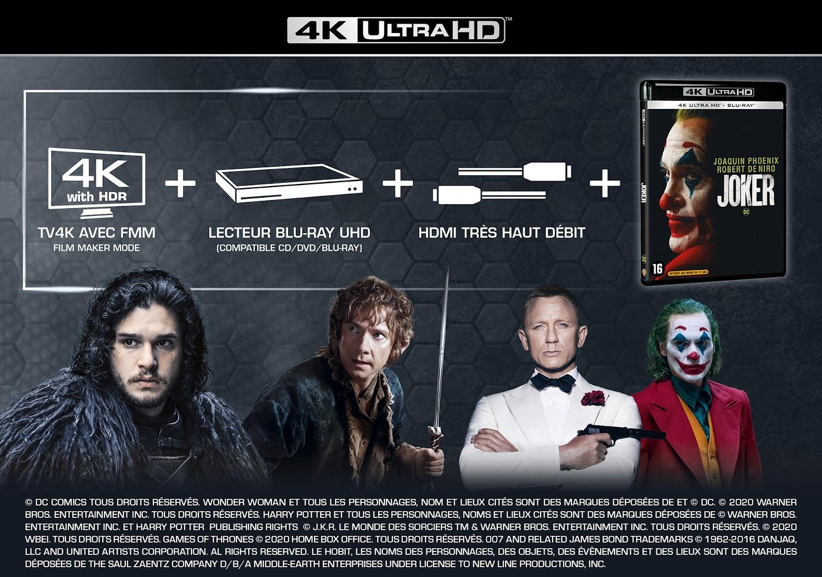 TV UHD 4K + Blu-ray 4K Ultra HD + câble HDMI très haut débit = la combinaison gagnante pour profiter de la 4K dans les meilleures conditions!