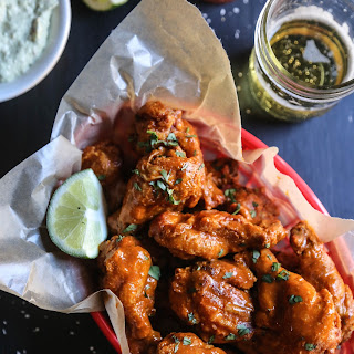 Mexican Spiced Crispy-Oven Wings with Avocado Crema