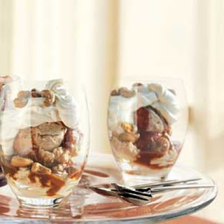 Caramel and Crème Fraîche Sundaes with Cashews.