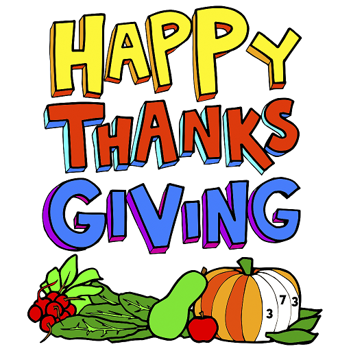 Thanks Giving Greeting Cards Color by Number Book Icon