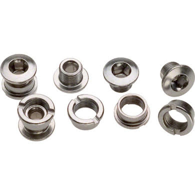 Sugino Double Chainring Bolt Set/5 Chromed Steel