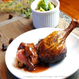 Duck 2 Ways with Port Cherry Sauce