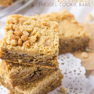 Mint Chocolate Streusel Cookie Bars