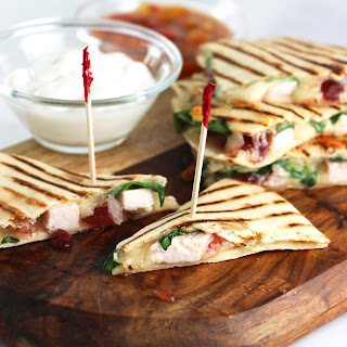 Turkey & Cranberry Quesadilla Appetizers.