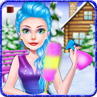 Ice Princess Winter Decoration Cleaning Game icon