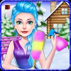Jeu de décoration d'hiver de princesse de glace icon