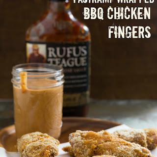 Pastrami Wrapped BBQ Chicken Fingers