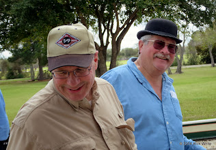 Photo: Bob Barnett and Gary Brothers      HALS Chili Fest Meet 2014-0301 RPW