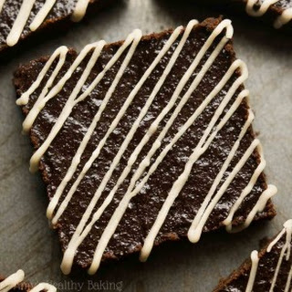 Fudgy Mocha Brownies with Coffee Drizzle.