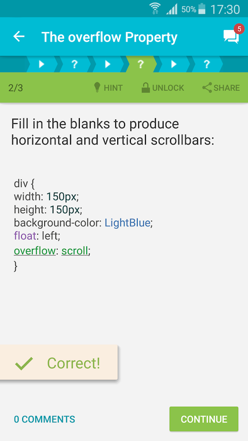 Screenshots of Learn CSS for iPhone