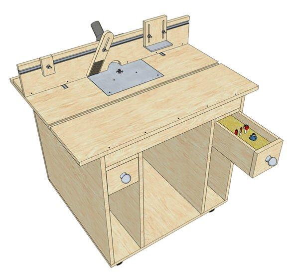 Стационарный фрезерный стол