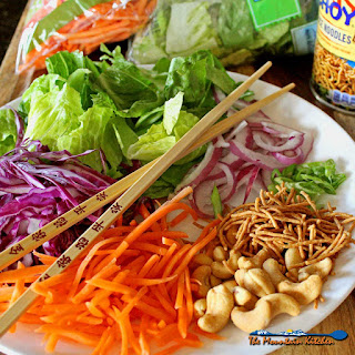 Asian Crunch Salad With Honey Sesame Dressing.