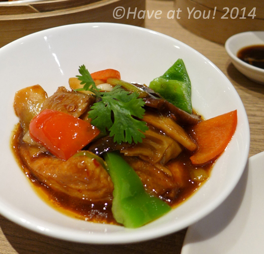 braised beancurd with mushrooms