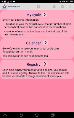 Fertility and Period Calendar - screenshot