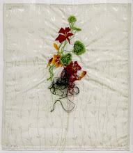 Photo: Nudo 1/10 2015 Bordado digital sobre seda con hilos de algodón 53 x 45 cm