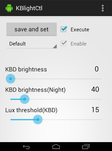 KBlightCtl key light control