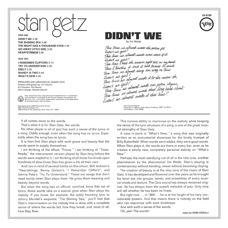 Stan Getz, Johnny Pate