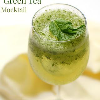 Frosty Coconut Mint Green Tea Mocktail.