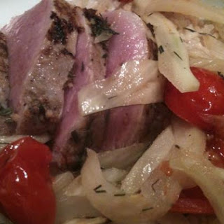 Roasted Pork Loin With Fennel and Tomatoes