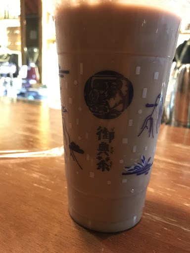 點蒙古鮮奶茶,沒喝到自己在蒙古喝到的熟悉奶味不過奶茶本身還可以