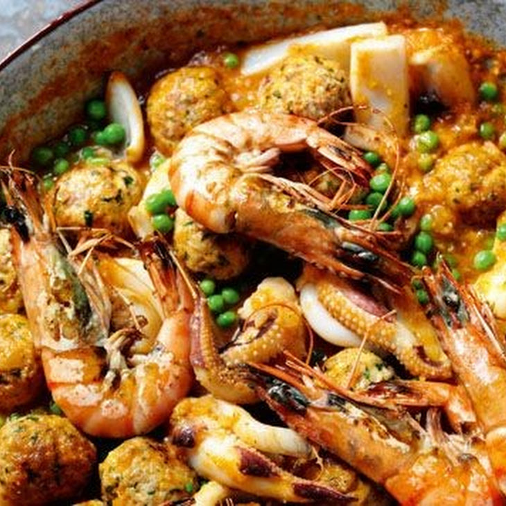 Rick Stein'S Cuttlefish with Meatballs and Peas Recipe