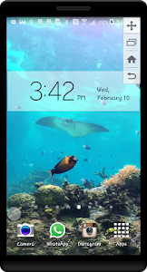 Peaceful Aquarium LWP screenshot 3