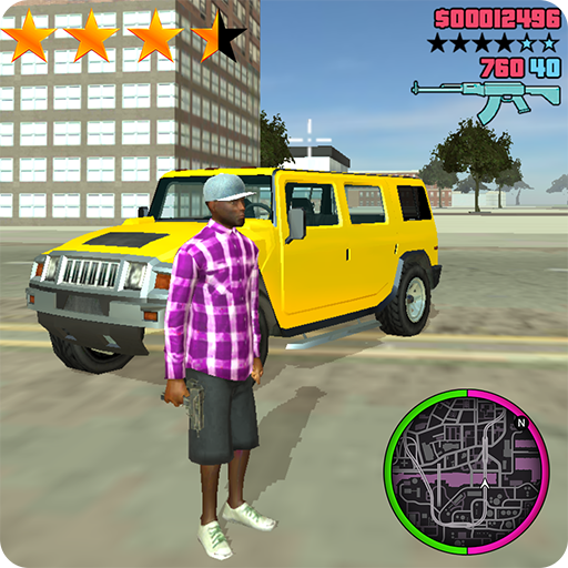 Grand Wars Crime City Gangster : Theft car driver