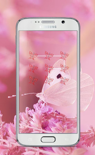 Butterfly Pattern Lock Screen
