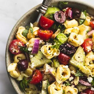Greek Tortellini Pasta Salad.