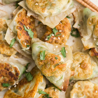 Pea Potstickers with Cabbage and Ginger