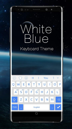 White Blue System Keyboard ss1
