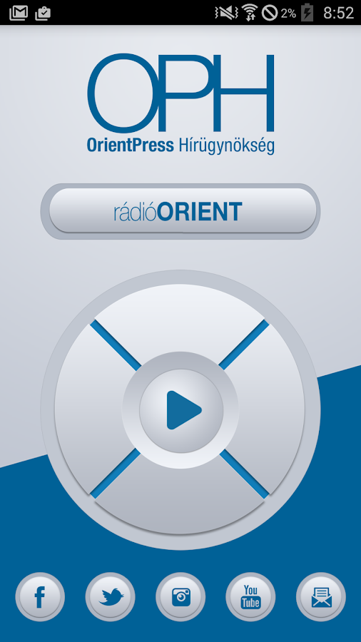 Rádió Orient- screenshot