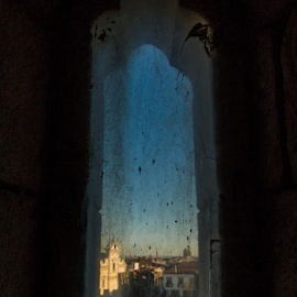 Peek View by Alexandre Mestre - City,  Street & Park  Historic Districts ( old, church, indoor, centre, architecture, travel, city, history, center, beja, sky, ancient, sly, window, sunset, castle, peek, day, town, portugal, medieval, travel photography )