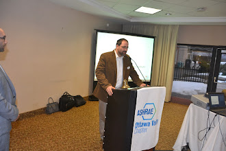 Photo: Steve Moons talking about Total HVAC table top
