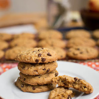 Chewy Pumpkin Cookies with Toffee Bits
