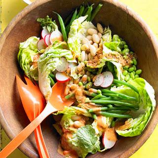 Garden Three-bean Salad With Fresh French Dressing.