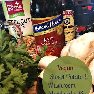 Vegan Sweet Potato & Mushroom Shepherd's Pie #VeganFoodShare