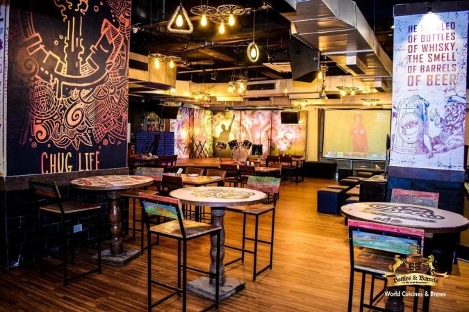 places-with-no-cover-charge-gurgaon_bottles_and_barrels_1