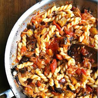 Chez Panisse Eggplant, Caramelized Onion and Tomato Pasta Recipe