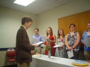 Photo: Sigma Tau Delta Induction, Spring 2011