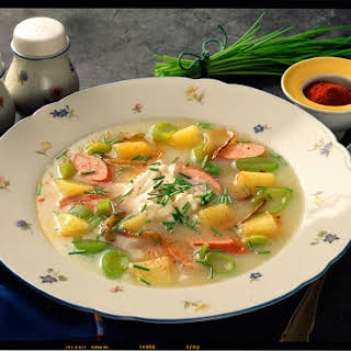 Easy Potato and Sausage Soup.