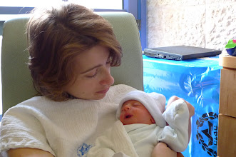 Photo: One day old. Vera and Ethan together in Hadassah Ein Karem, Yoldot Gimel (rooming in) department.